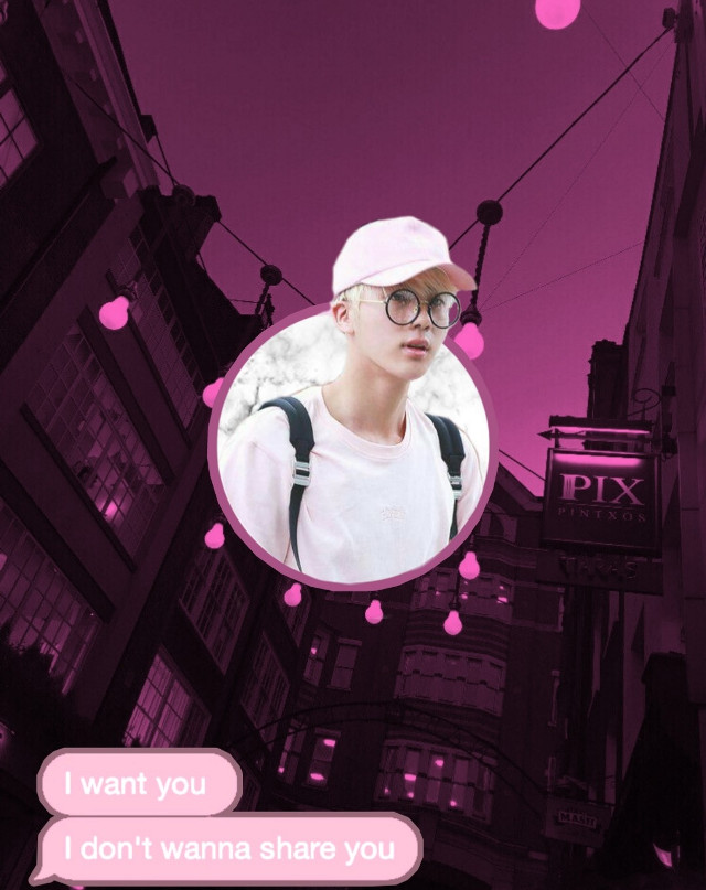 Jinnie!! 💗   #jin #kimseokjin #pink #aesthetic #circle #message #bts #bangtan #remixit #givecredits #givecreditifused