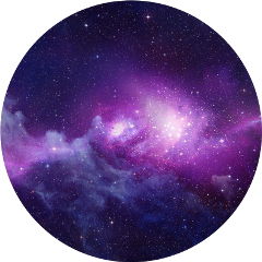 galaxy purple pink glitter circle freetoedit