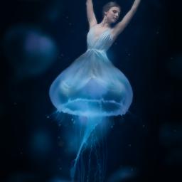freetoedit dancer jellyfish ocean sea ircjellyfish