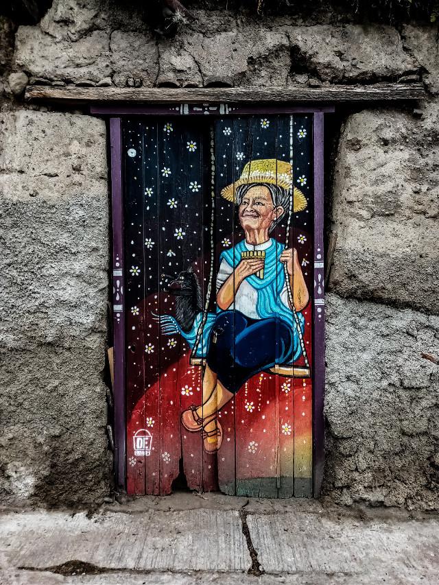 #cotacachi #imbabura #ecuador #graffiti #art #doorpainting #streetart #urban  #freetoedit