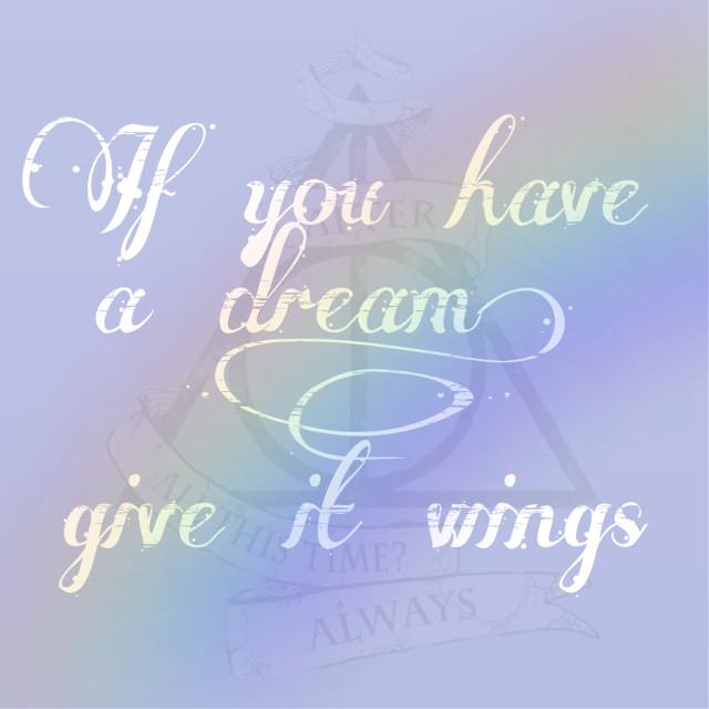 Believe in your dreams 💫💫❤️ #dream #dreams #believeinyourdreams #wings #edit