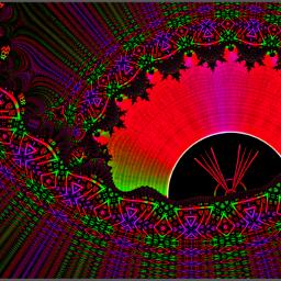 fractal art neon eye cool