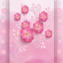 freetoedit floralart floralpattern papercut 3deffect