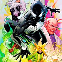 spiderverse villans spiderman venom mysterio freetoedit