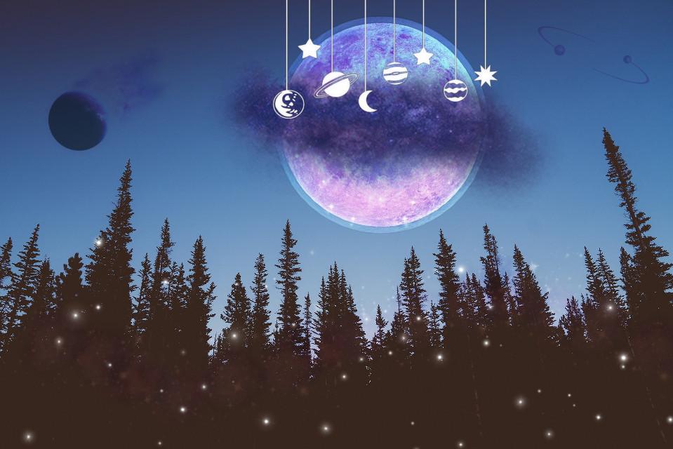 #freetoedit #galxystyle #galaxia #galaxyedit #galaxy #moon #stars #pink #night #fotoedit #edit #art