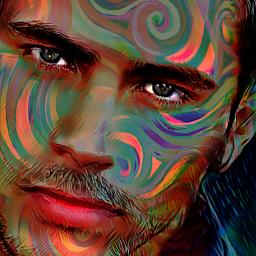 myoriginalwork originalart manportrait colorful conceptualart