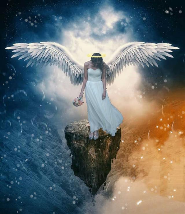 #freetoedit  #angel #wings #aureola #paradise