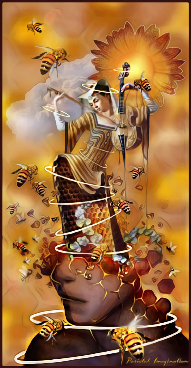 Queen of the Hive Edit by: Parietal Imagination Art @pa #bees #hive #halo #freetoedit  #srchalo