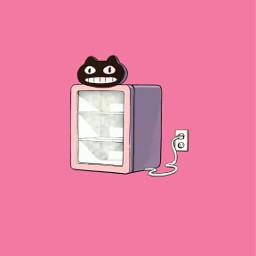 freetoedit gatogalleta pink wallper lockscreen