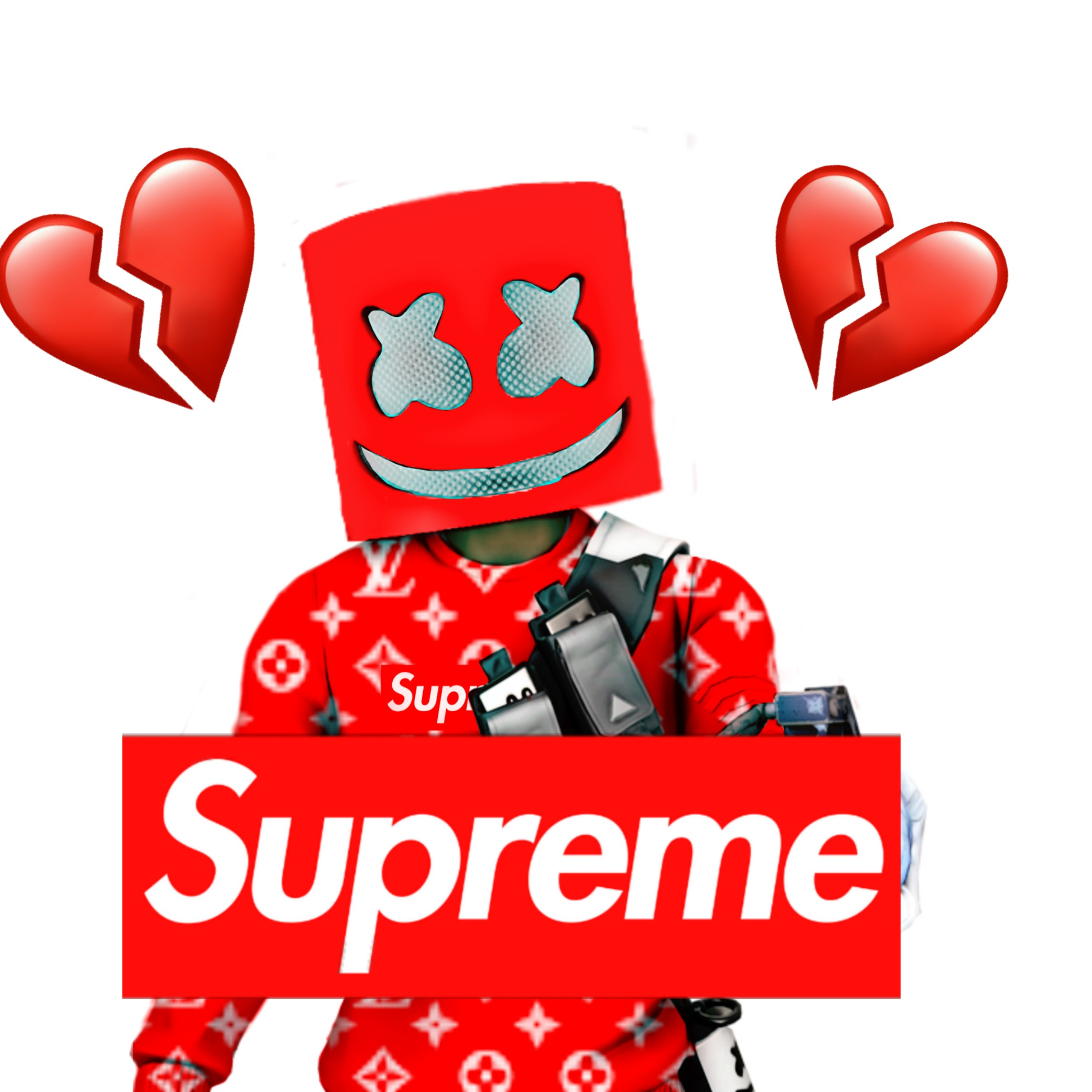 Marshmello Supreme Fortnite Wallpaper