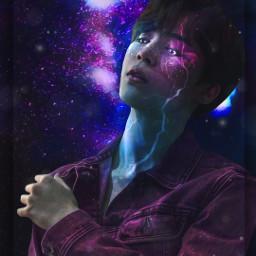 freetoedit bts jimin galaxy edit