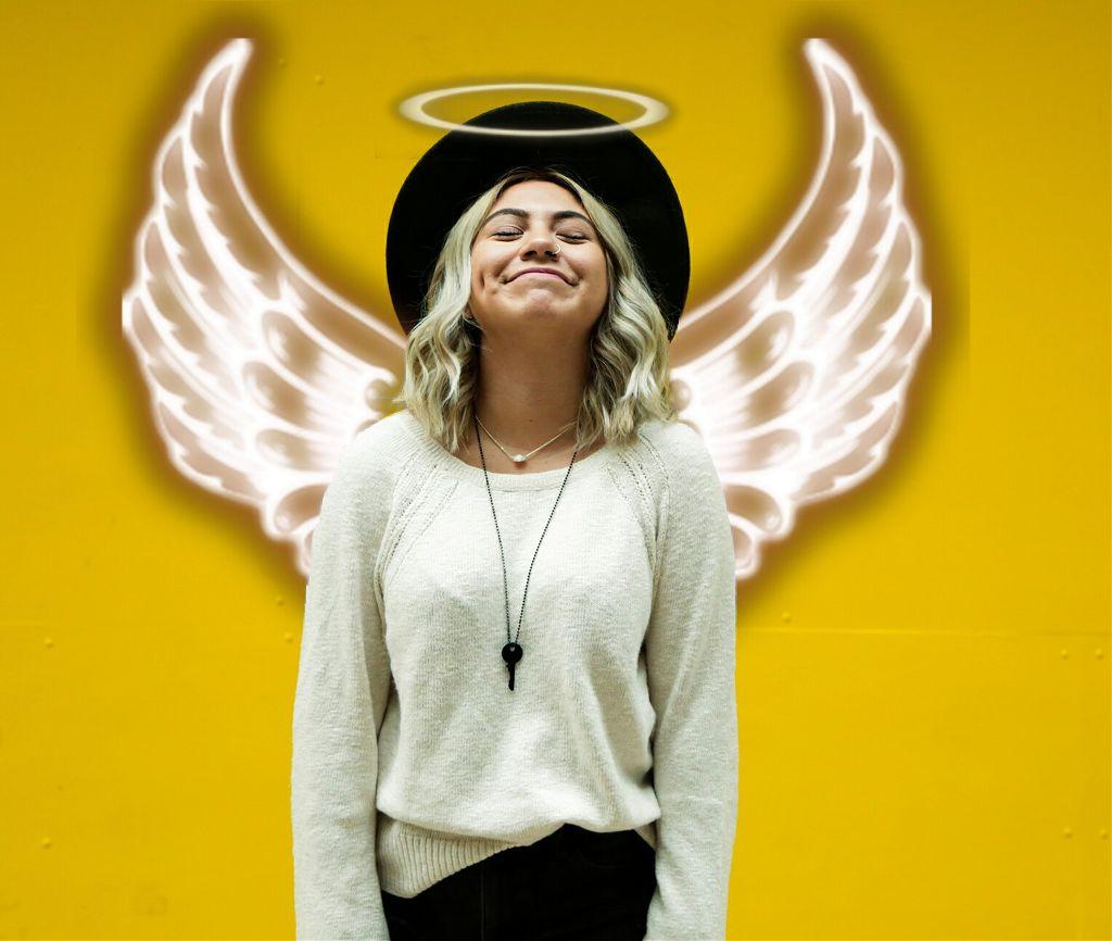 #freetoedit #angel 💫 #girl 💄#yellow 💛 By: @damla_osen ♡