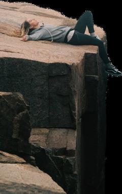 cliff rock edge woman laying freetoedit