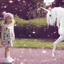 family granddaughter unicorns sparklemask freetoedit