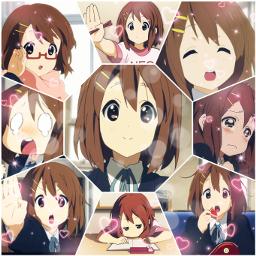 anime k-on! yui yuihirasawa k