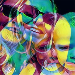 artisticselfie artisticportrait meandmygrandson colorbrighteffect holographic