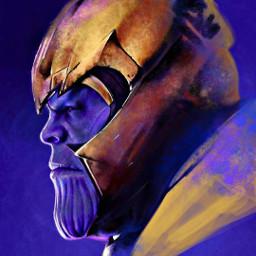 thanos fanart avengersinfinitywar avengersendgame marvelstudios freetoedit