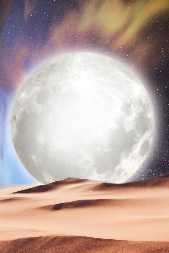 Background #4   #freetoedit #background #moon #surreal #myedit #araceliss #desert