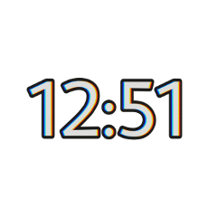 12:51 aestheticnumber time aesthetic freetoedit