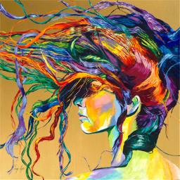 like love follow colorfulhair