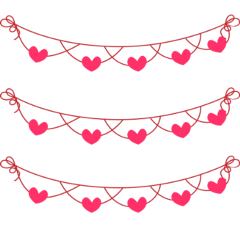 ftestickers ribbon banners hearts red freetoedit
