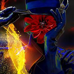 myoriginalwork originalart womanportrait conceptualart colorful ecflowerhead