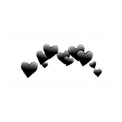 black heart crown freetoedit