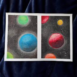 freetoedit drawing handdrawing pastels space