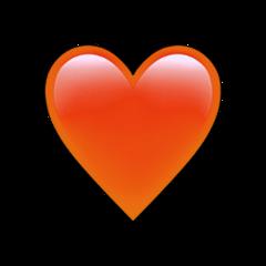 orange heart only lonly wallpaper freetoedit