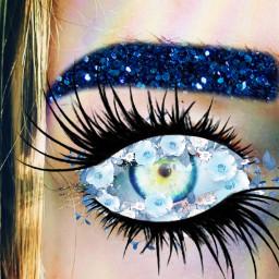 freetoedit eyebrows eyeliner blue cool