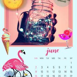 freetoedit june cocktail icecream flamingos ircjunecalendar