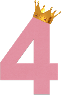 four numberfour pink crown birthday freetoedit