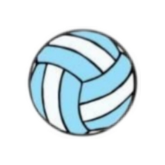 aesthetic blue volley volleyball ball freetoedit