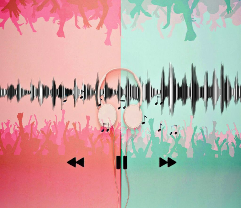 #freetoedit #music #musicnotes #headphones #hdr #speaker #sound #soundwave #play #pause #forward #backward #skip #crowds #concert #colorful #blackandwhite