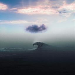freetoedit sea sunset myedited picsart