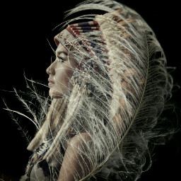 freetoedit feather indiangirl girl