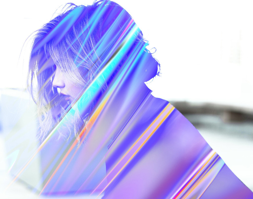 #freetoedit #potrait #people #girl #girls #woman #foil #holographic #holo