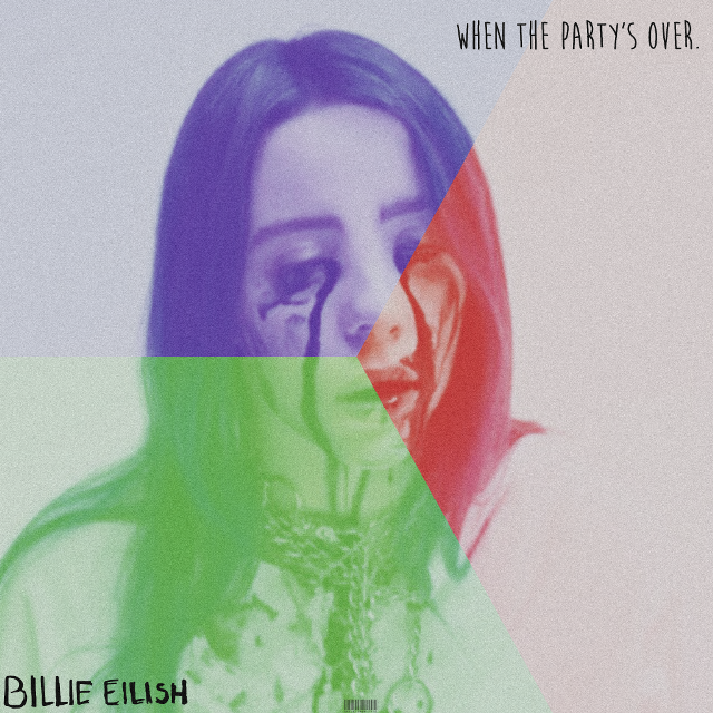 🤖 Tried to do the glitch effect. But it didn't work so it ended up like this. #billieeilish #billie #eilish #billieeilishedit #whenthepartysover #dontsmileatme #collage   #freetoedit