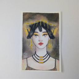 freetoedit girl gold sparkle yellow