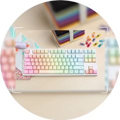 aesthetic circle rainbow keyboards letters freetoedit