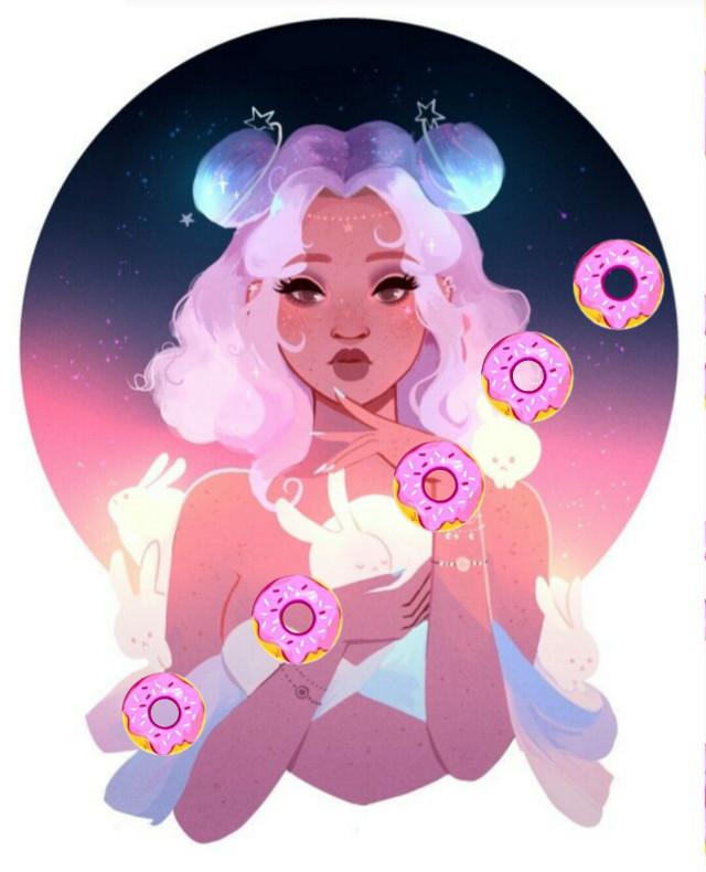 #freetoedit #donut miss donut her self #lol