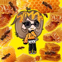 honeycomb honey honeylover oc ocwithhoney freetoedit