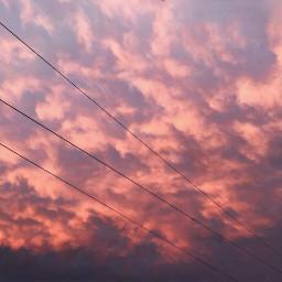 sky clouds sunset light nature freetoedit
