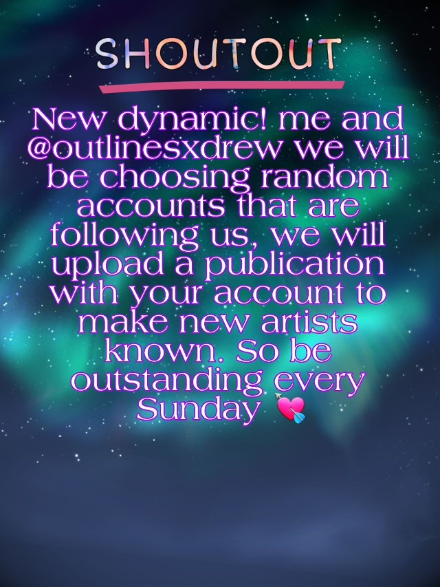 New dynamic! Me and @outlinesxdrew  we will  be choosing random accounts that are following us, we will upload a publication with your account to make new artists known. So be outstanding every Sunday.💘  Rules: # 1 have to follow us # 2 In your accounts they have to have content, we will not choose people who do not have a single photo in their profile.  #3 Comment below #shoutout #edit  #outliners #outline #outlines #fanart #digitalart #drawing #model #beautifulgirl #outlined #outliner #outlinedrawing #beautifuledit #angelsquadforever #angelsquad  #kristenhancher  #edit  #outliners #outline #outlines #beautifuledit #beautifulgirl #model #kristenhancherfanedit #digitalart #art#drawing #fanart #kristenhancherarmy #kristenhancherfan #kristenhancherteam @kristenhancher