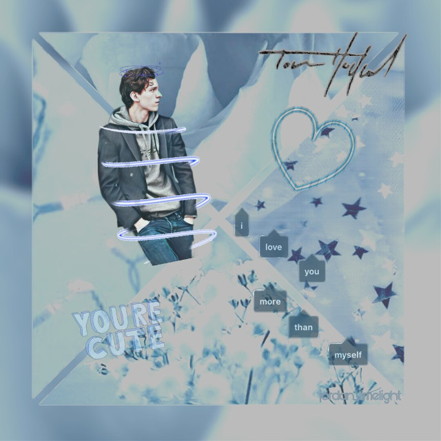 Cute edit of Tom real quick. Hope you guys like it! If you have any requests for an edit leave it in the comments. Much love, Jordan❤     #freetoedit #tomholland #cutie #fanedit
