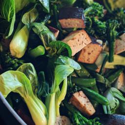 stirfry tofu vegetables vegan vegetarian