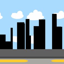 city background street cloud sky