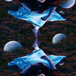 freetoedit lunarnewyear moon girlpower mirroreffect