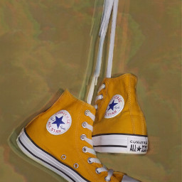 freetoedit converse yellowconverse yellow aesthetic