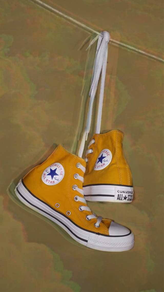 Converse!~ 🌈🥀 #freetoedit #converse #yellowconverse #yellow #aesthetic